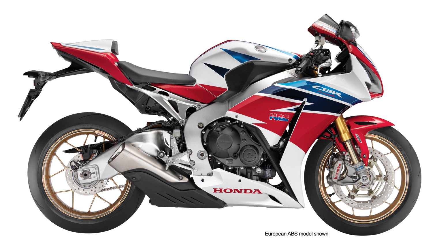 The 2014 Honda CBR1000RR SP benefits from a special HRC tri-color