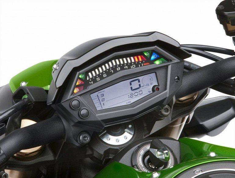 2014 Kawasaki Z1000 Display